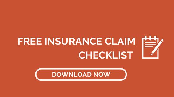 free insurance claim checklist