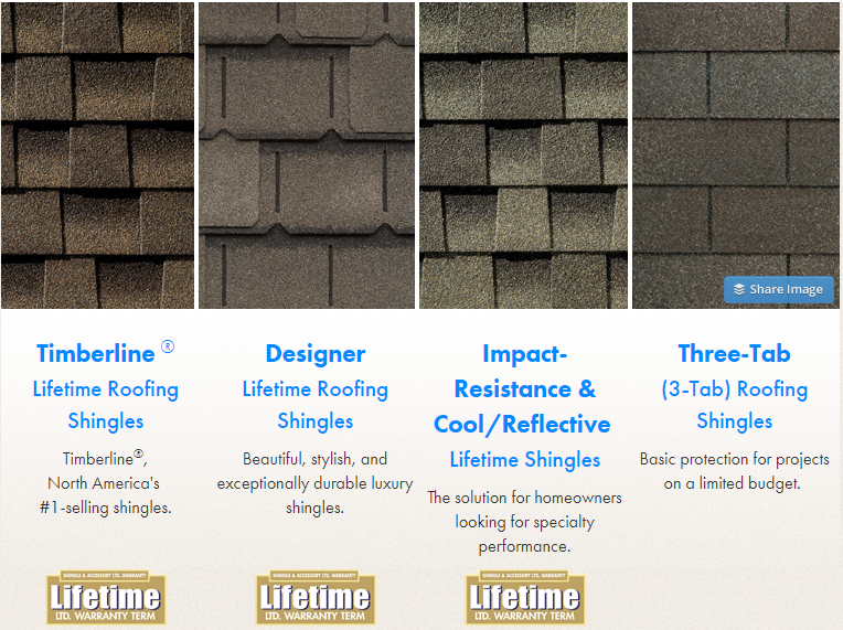 GAF Shingles Colors