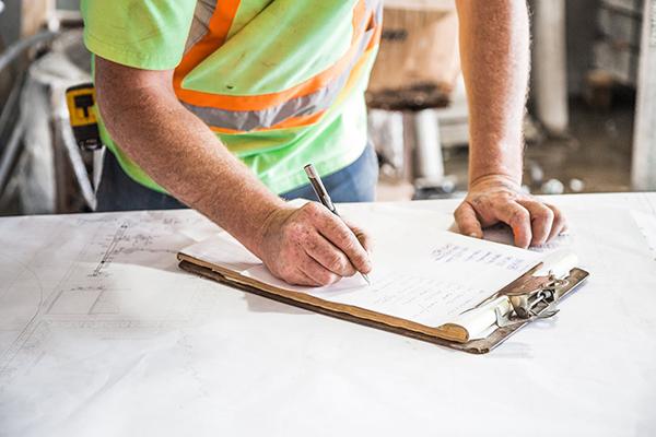 Preparing site inspection checklist