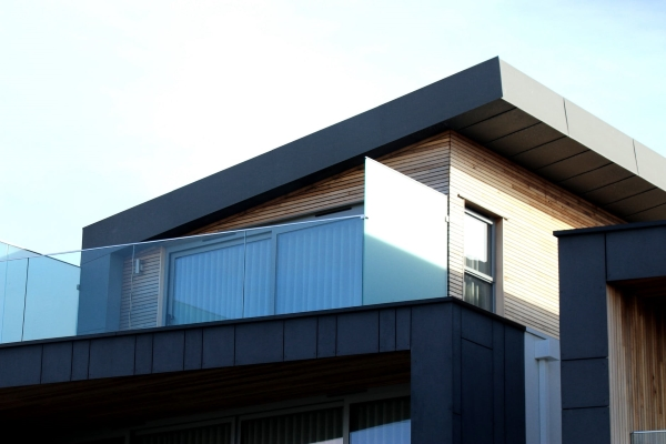 Modern House Using a Sloped Metal Roof